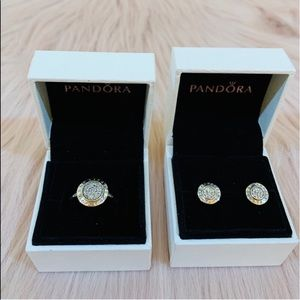 Pandora Signature Ring and Earring Set